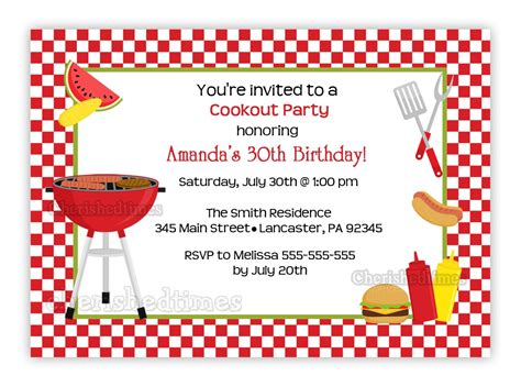 cookout invitation template cookout any birthday invitation you print by cherishedtimes