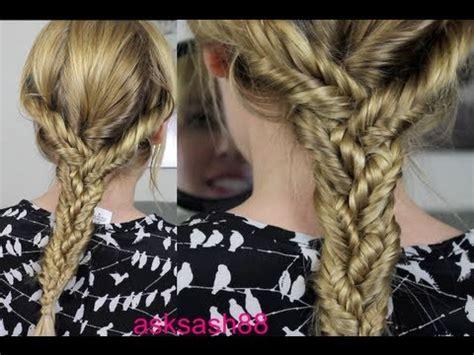 easy everyday hairstyles braids triple fishtail braid easy everyday hairstyles for long