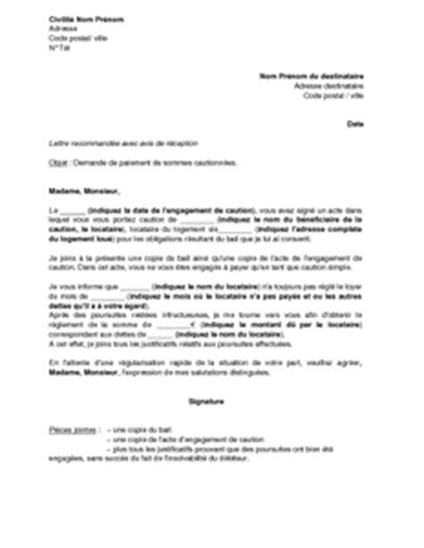 Modèle De Lettre De Demande D Emploi Simple Exemple Gratuit De Lettre Demande Paiement Loyers Impay 233 S 224 Caution Simple