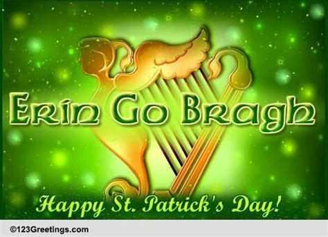 Erin Go Bragh! Free Happy St. Patrick's Day eCards