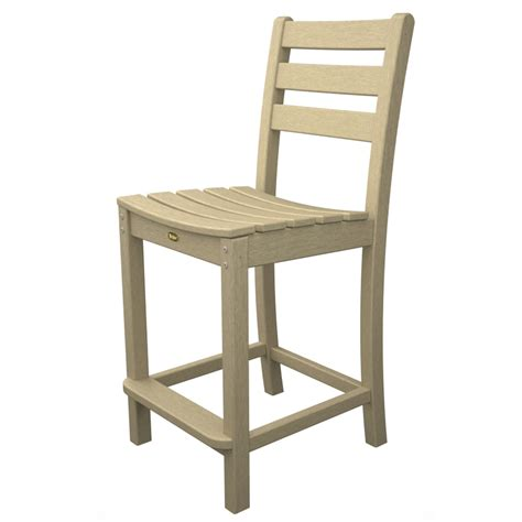 Patio Bar Height Chairs Shop Trex Outdoor Furniture Monterey Bay Slat Seat Plastic Patio Bar Height Chair At Lowes