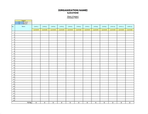 teacher attendance sheet free printable sign in sheet jpg