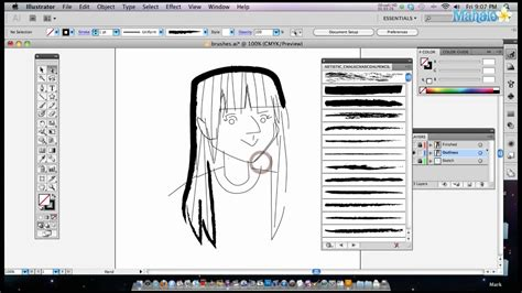 illustrator tutorial for photoshop users how to use brushes in adobe illustrator youtube