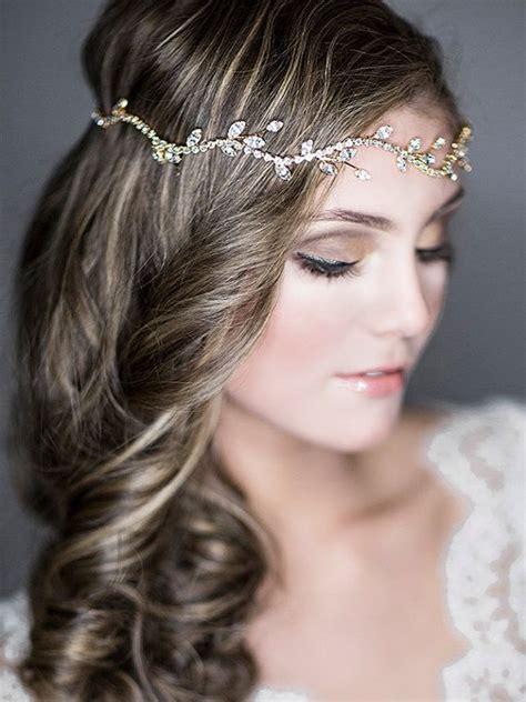hairstyles with diamond headband bridal halo headband wedding hair accessories vintage