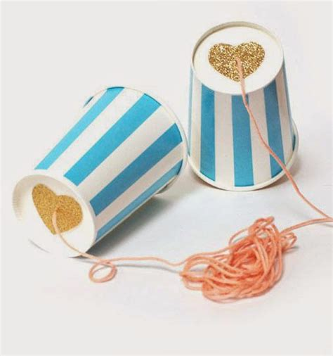 Paper Cup Telephone Craft - with a paper cup mommo design