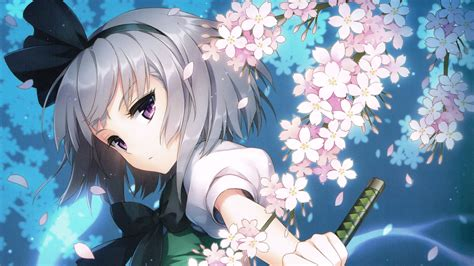 wallpaper hd 1366x768 anime girl touhou anime girls wallpaper hd desktop background