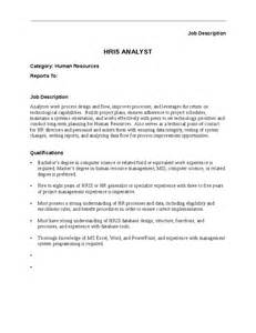Human Resources Analyst Description by Hris Analyst Description Hashdoc