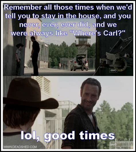 The Walking Dead Funny Memes - get out of here carl the twd memes lols thread page 8