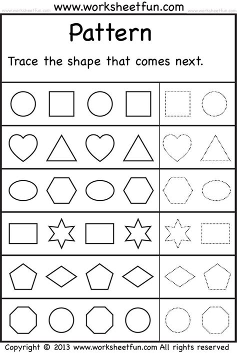 Kindergarten Pattern Assessment | 1000 ideas about malen nach zahlen kostenlos on pinterest