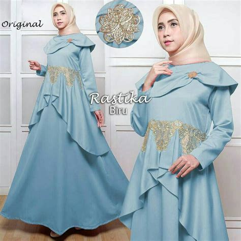 Gamis Pesta Bordir gamis pesta model sabrina modern rastika bordir jual