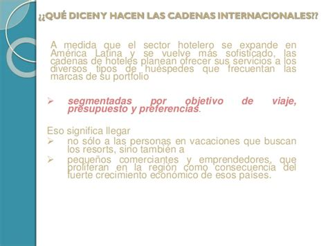 cadenas hoteleras brasil las cadenas hoteleras internacionales en latinoamerica la