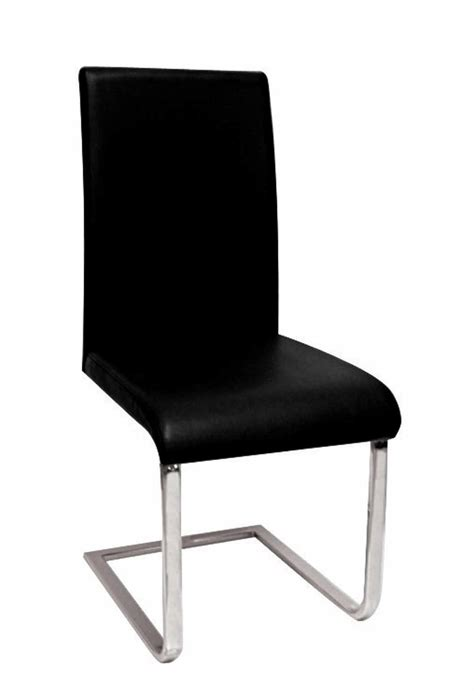 china black leather chrome chair c199 china dining