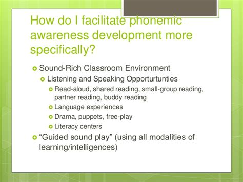 Modelo Curricular De Manuel Castro Pereira A Classroom With Quot Surround Sound Quot Supporting Phonemic Awareness Deve
