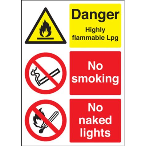 no smoking sign a4 size a4 danger highly flammable lpg no smoking naked lights
