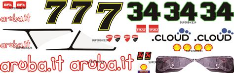 Superbike Aufkleber Set by Ducati Panigale Aruba It Sbk Wm Aufkleber Set Superbike