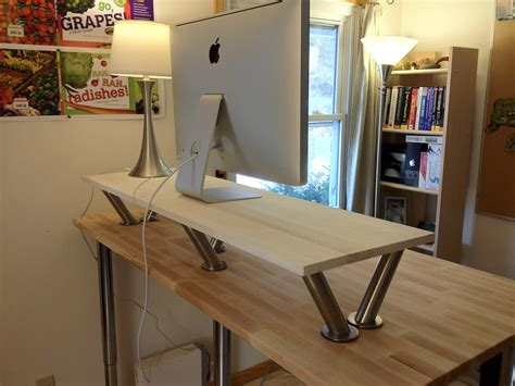 build your own standing desk how to make a standing desk on top of a regular desk