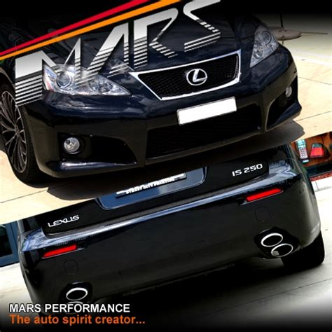 isf style grill front bumper bar for lexus isf style grill front rear bumper bar with fog lights twin exhaust tips for lexus is250
