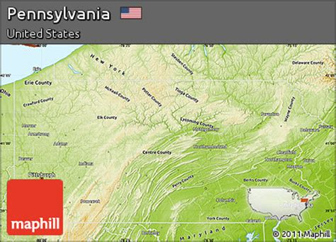 physical map of pennsylvania free physical map of pennsylvania
