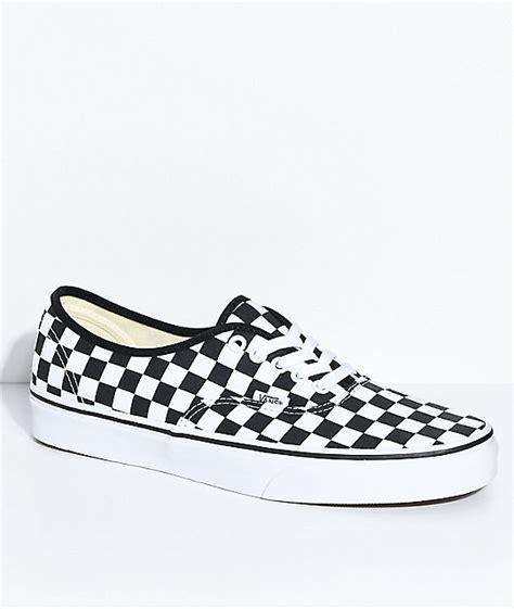 vans authentic black sale vans authentic black white checkered skate shoes zumiez