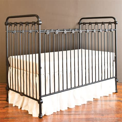 baby crib distressed black