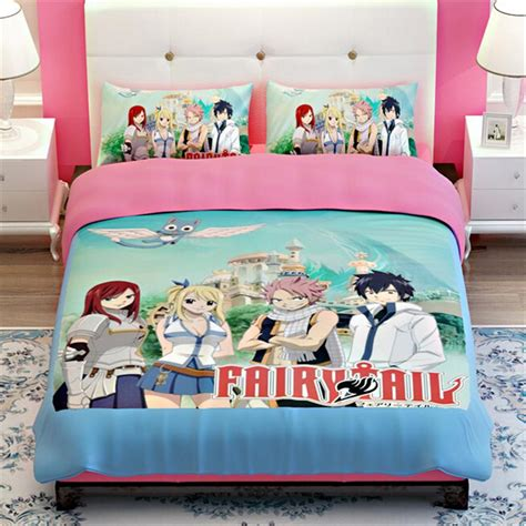 anime bed japanese anime fairy tail bedding sets twin queen king