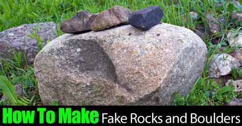 How To Make Fake Landscape Rocks And Boulders Yards Faux Garden Rocks