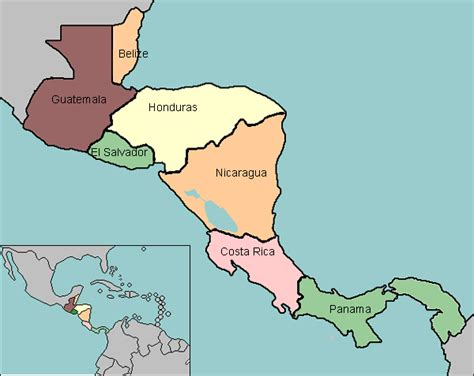 central america map quiz map of central america with countries labeled around the