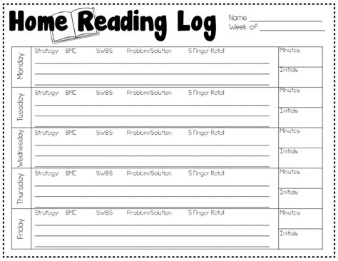 homework reading log template i homework preparing learners