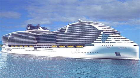 biggest navy boat in the world world s biggest cruise ship msc s new world class cruise