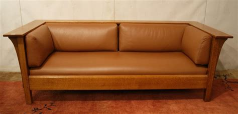 stickley cheyenne leather sofa mission quot stickley quot leather sofa