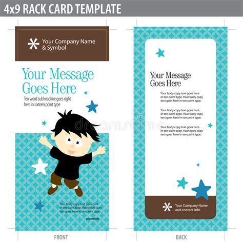 free template for 4x9 rack card 4x9 rack card template stock photos image 8937013