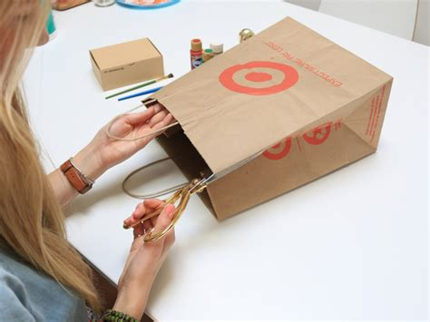 How To Make A Gift Bag From A4 Paper - here s how to turn grocery bags into chic gift wrap