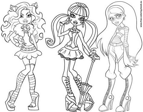 images of monster high characters coloring pages az