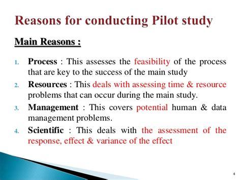 Pilot Study Report Template