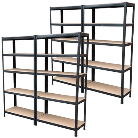 Black Metal Shelf Unit by 9 Can Be Split