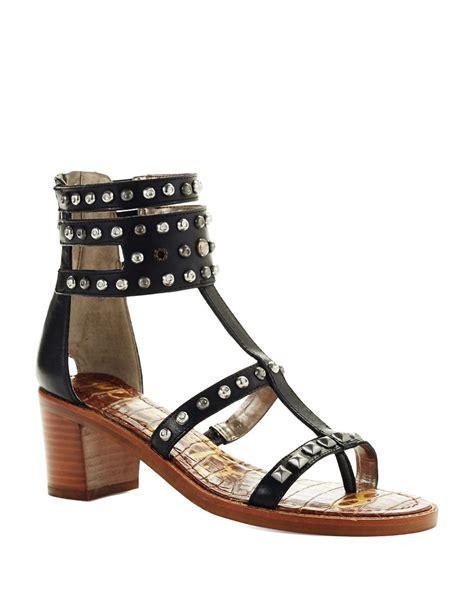 sam edelman studded sandals sam edelman dion studded sandals in black lyst