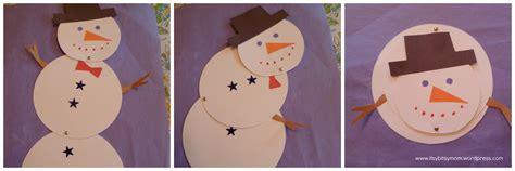 Snowman Papercraft - melting snowmen itsybitsymom