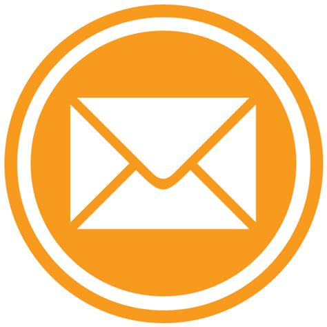 email icon email icon orange transparent png stickpng