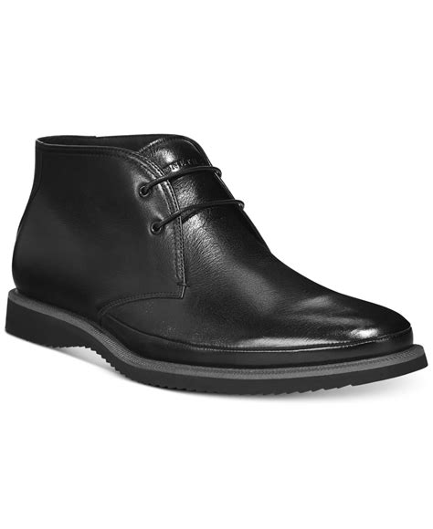 kenneth cole grade r wedge chukka boots in black for