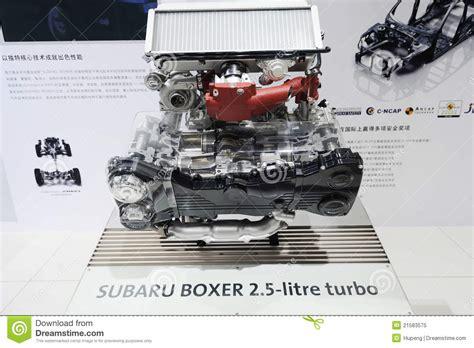 subaru boxer engine turbo subaru boxer 2 5 litre turbo engine editorial image