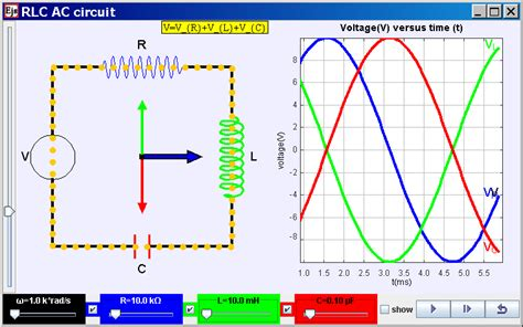 resistors capacitors and inductors in ac circuits open source physics singapore ejs open source resistor inductor capacitor alternating current