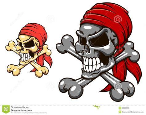 tattoo pirate cartoon pirate skull with crossbones stock vector illustration
