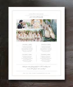 Wedding Menu Sles Templates by Photography Price List Template Pricing Guide Premade