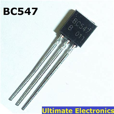 npn transistor vebo 50pcs bc547 45v 0 1a to 92 npn transistor in transistors from electronic components supplies