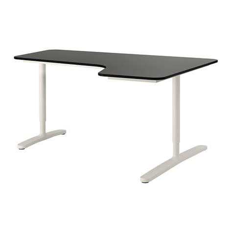 Ikea Black Corner Desk Bekant Corner Desk Right Black Brown White 160x110 Cm Ikea