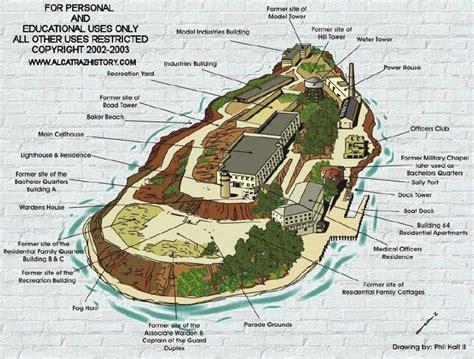 san francisco highlights map map of alcatraz quot the rock quot of san francisco