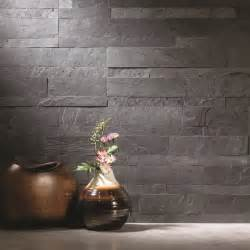 Fasade Kitchen Backsplash aspect 6 x 24 inch charcoal slate peel and stick stone