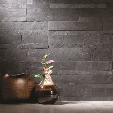 Kitchen Island Overstock by Aspect 6 X 24 Inch Charcoal Slate Peel And Stick Stone