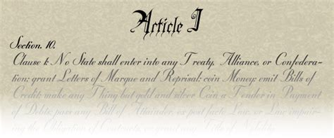 Article I Section 9 Of The Us Constitution politics federalism and the u s constitution