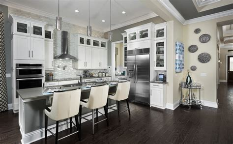 model home interiors contemporary kitchen orlando